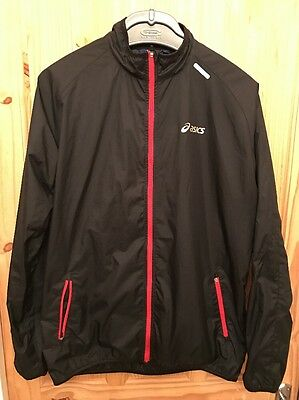 Men's Large Asics Windproof Running Jacket