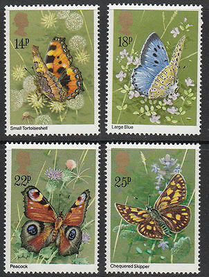 SG1151-1154 1981 BUTTERFLIES Unmounted Mint