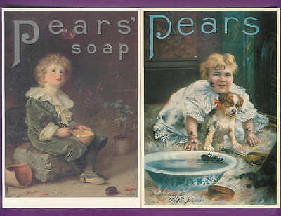 Pair of PEARS Promo Postcards Mayfair of London Series Ideal for framing C38