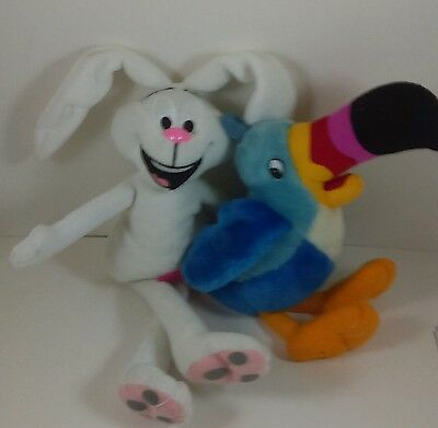 General Mills Trix Silly Rabbit Toucan Sam Beanie Breakfast Pal Cereal Promo