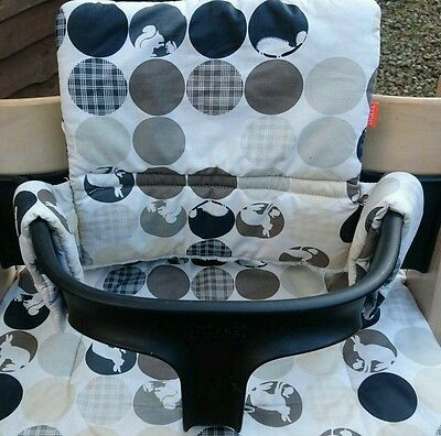 Stokke rare black baby set with cover tripp trapp (highchair not included)