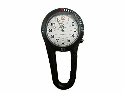 Black Clip Watch with Black Dial for Paramedic Ambulance Nurse Medic Police EMT