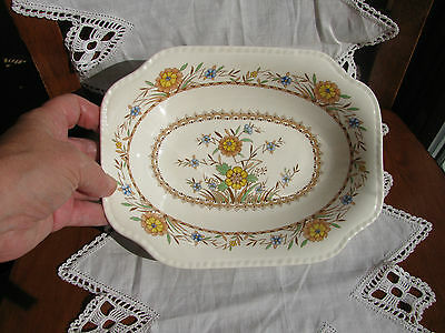 Steubenville Pottery Vegetable serving bowl STB46 USA Yellow Floral EXC cond