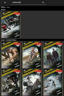 Topps Walking Dead Card Trader Welcome to Atlanta complete set