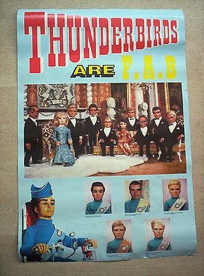 Thunderbirds,original Athena Int 1992 London Print,35 Inches X 23 Inches Poster