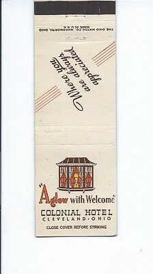 MATCHBOOK COVER Colonial Hotel Cleveland, Ohio
