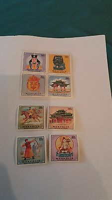 8  Timbres  Neufs    Mongolie