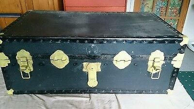 Antique / Vintage  Rustic Very Shabby Chic Large  Chest / Trunk