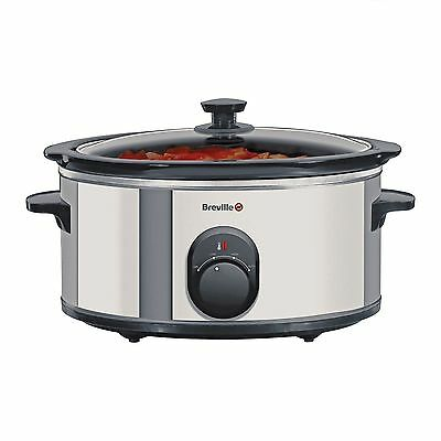 Breville 265W 4.5L Slow Cooker In Stainless Steel - Itp137