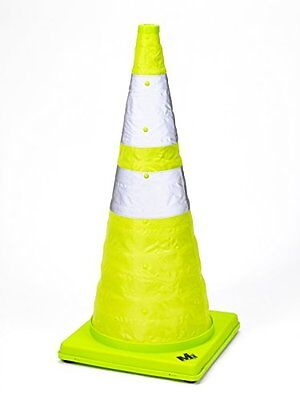 Mutual Industries 17712-1-28 Collapsible Reflective Traffic Cone with Inside