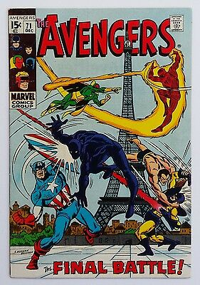 *HIGH GRADE BEAUTY* THE AVENGERS #71 1969 *KEY 1st INVADERS APPEARANCE