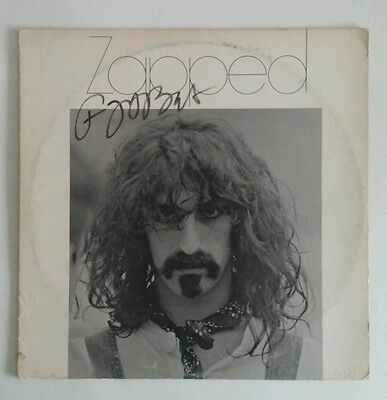 Frank Zappa Signed Zapped Record Album LP With 3 Unpublished Color Photos