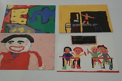 Mint PHQ Set of 1989 My School National Painting Competition Postcards (unused)
