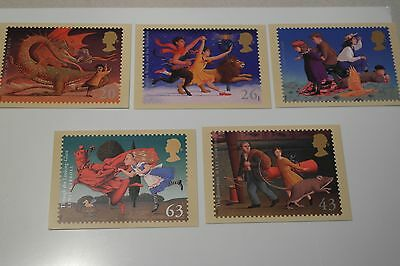 Set of 5 PHQ Cards of Famous Children's Fantasy Novels (with Error on TOLKEIN)