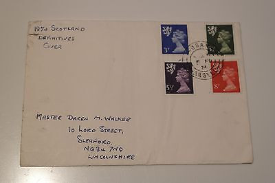 1974 Regional Definitives issue, Scotland, Sleaford Handstamp, Free Postage
