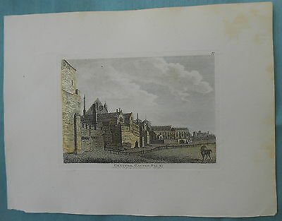 Antique Copper Print Of Chester Castle Plate 2 1784 Hand Colourded Pub By Hooper