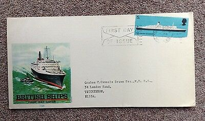 First Day Cover, British Ships.