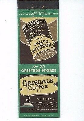MATCHBOOK COVER Grisdale Coffee