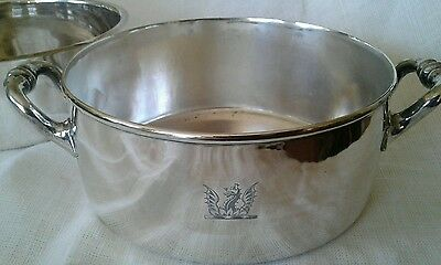QUALITY Silver Elkington & Co Engraved Handled Bowl