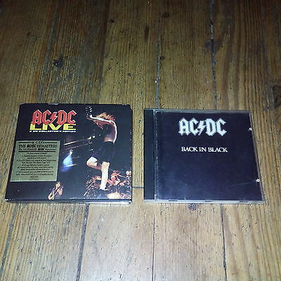 "Lot de 2CD ""AC/DC"" Back in black & AC/DC live"