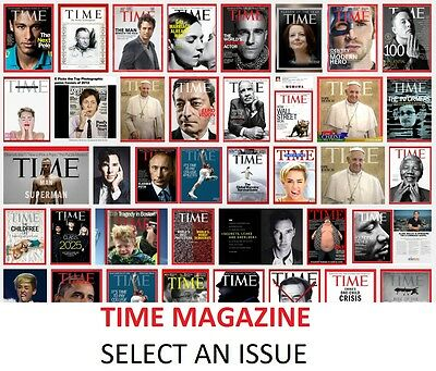 TIME magazine 2012-2013 issues - New and Sealed - Select an issue