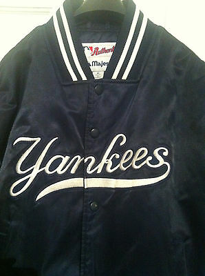boys majestic baseball satin jacket Yankees medium age 12
