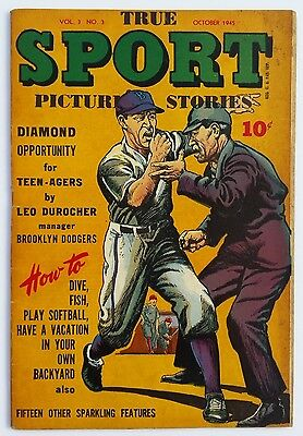 *rare* True Sport Picture Stories Vol.3 #3 1945 *leo Durocher Cover *see Pics*