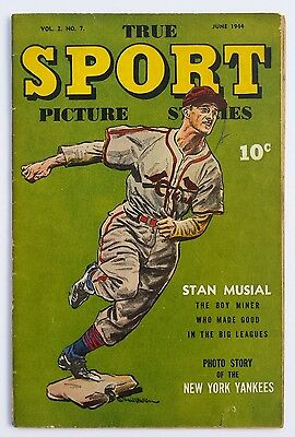 *rare* True Sport Picture Stories Vol.2 #7 1944 *stan Musial Cover *see Pics*