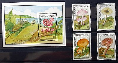 Grenada Grenadines 1991 mushrooms MNH