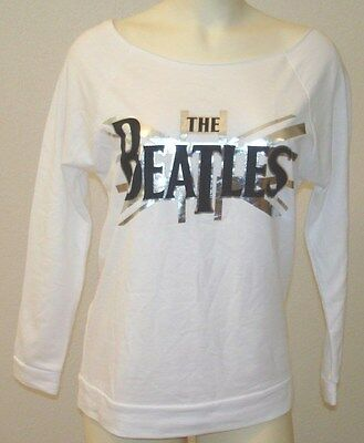 A Beatles Product 2015 Apple Corps LTD Women White Tee Size Small 3/4 Sleeve NEW