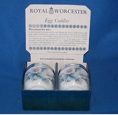 "Pair of boxed Royal Worcester  ""Woodland"" egg coddlers"