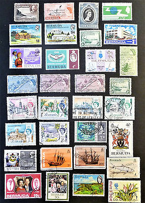 British Colonies Bermuda Collection of Stamps KGV & QEII used & unused lot938