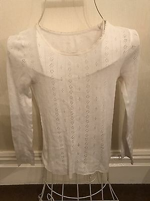 Marks And Spencer Ladies Thermal Vest Top Size 8