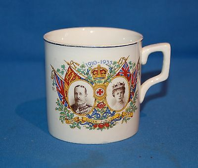 Commemorative Royalty Silver Jubilee mug George V and Mary.