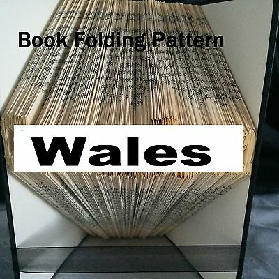 Book folding Wales  book folded Pattern for any WALES Fan (pattern only)