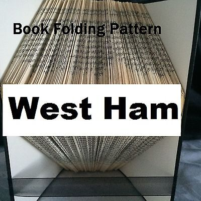 Book folding West Ham  book folded Pattern for any  Fan (pattern only)