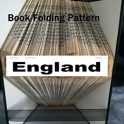 Book folding England  book folded Pattern for any  Fan (pattern only)