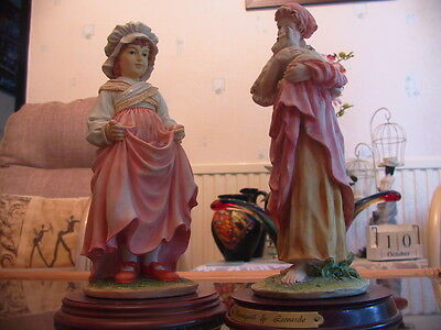 Two collectable Leonardo collection statuettes