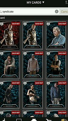Complete walking dead topps syndicate set with awards. 50 cards!