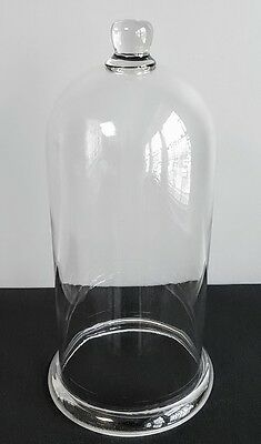 Large Antique Victorian Cloche Heavy Hand Blown Glass Bell Display Lab Jar #2