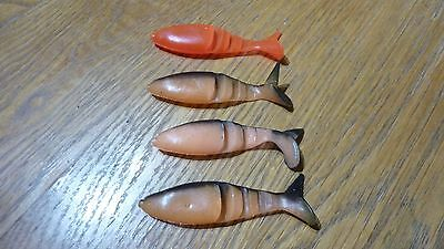 Soft rubber lures for pike perch zander fishing x4