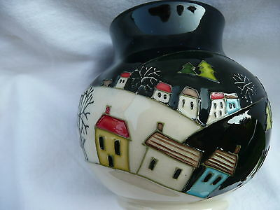 """Moorcroft Trial & Dated 'silent Night' 3"""" Vase, Paul Hilditch Design, 1St, Boxed"""