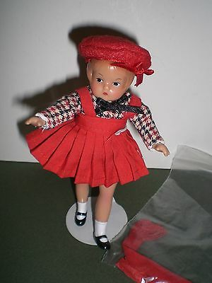 "Effanbee WEE PATSY V570 5"" Doll with Stand and Box"