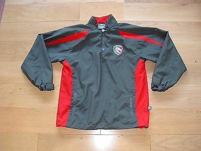 Leicester Tigers Rugby all weather Training shirt/Warmup Top/Jacket/jersey/youth