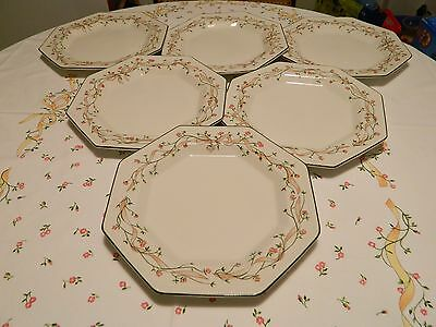 "Set Of 6 Johnson Brothers Eternal Beau 10.5"" Dinner Plates - Perfect - #3"