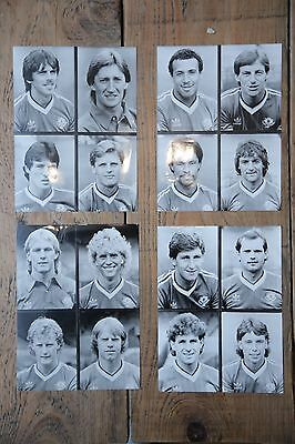 4 original press photos of Manchester United player, 1983 season