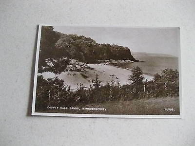 Coppit Hall Sands Saundersfoot Wales Old Rare Unposted Postcard Good Condition