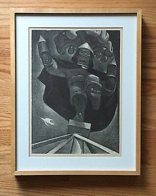 JEAN CHARLOT Original Early Signed Lithograph EL VOLADOR Published by AAA - 1948