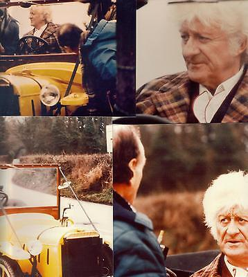 Doctor Who The Five Doctors 4 colour photos Jon Pertwee in Bessie location shots