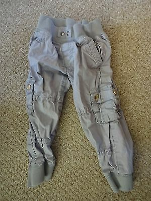 Baby Boys Summer Clothes - 18-24 Months Grey Casual Combat Trousers